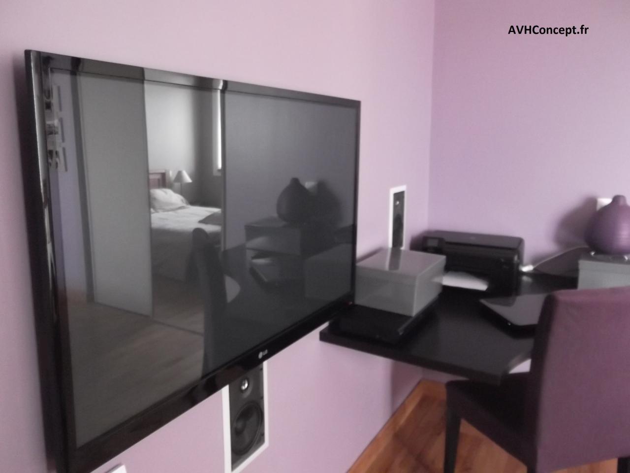 Int Gration Projecteur Cran Plat Syst Me 5 0 Dans Une Chambre  # Maison En Ecran Plasma